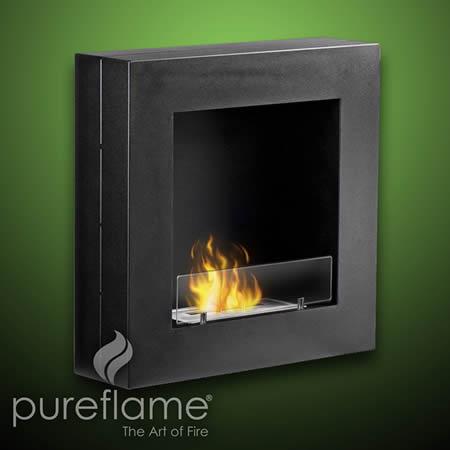 Hayden Wall Mount Liquid Fuel Fireplace Indoor Fireplaces Gel Ethanol