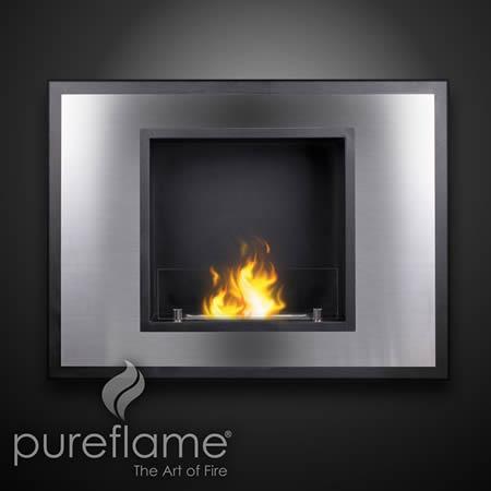 Vahni Wall Mount Liquid Fuel Fireplace Indoor Fireplaces Gel Ethanol